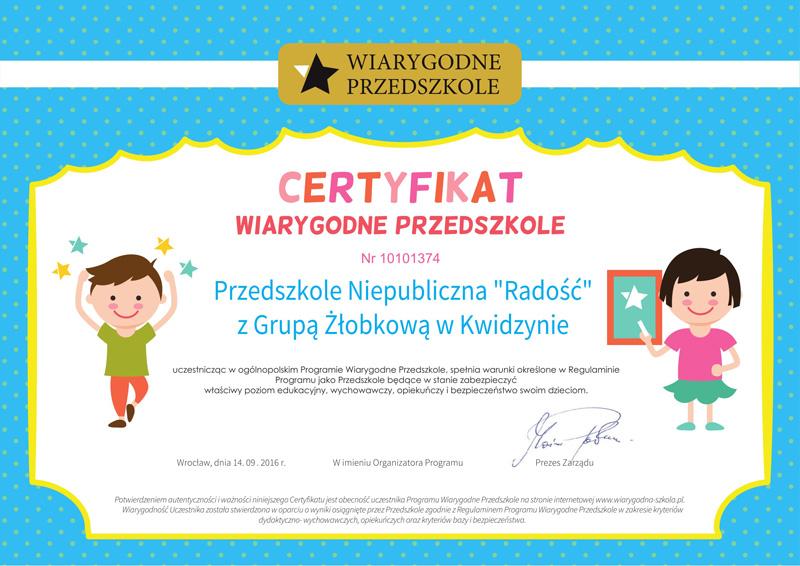 certyfikat-wiarygodne-przedszkole
